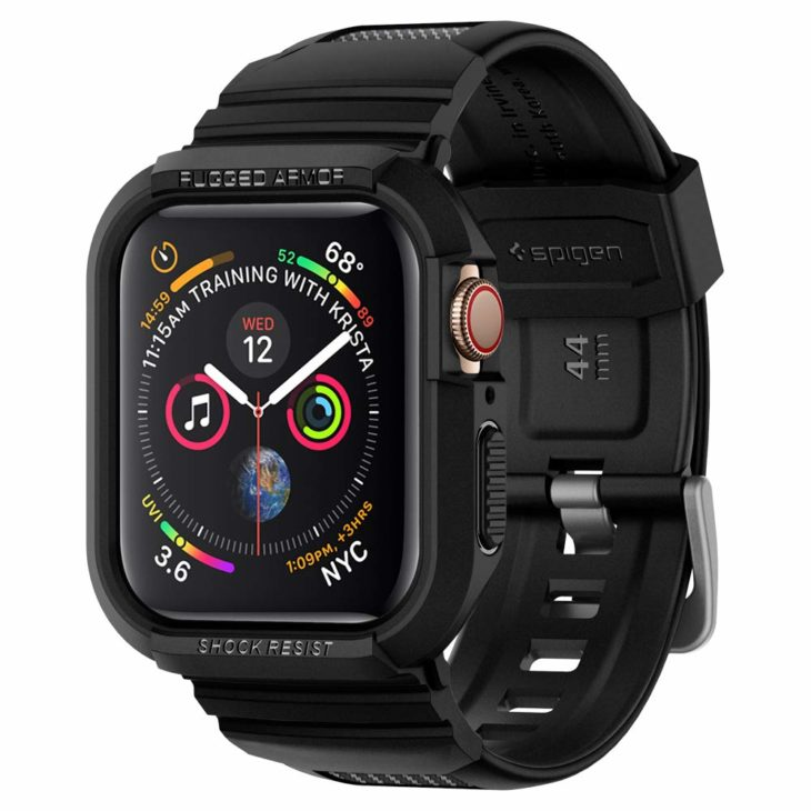 Spigen Apple Watchバンド一体型ケース Series 5