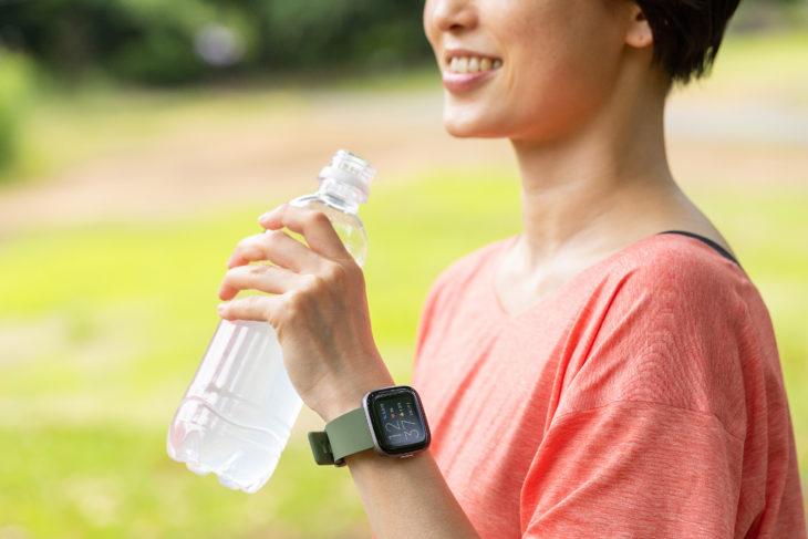 機能②1日の歩数や消費カロリーが分かる